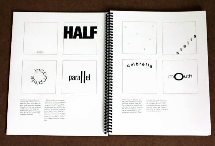 Book Cover Making Process : Typography process book lise statelman
